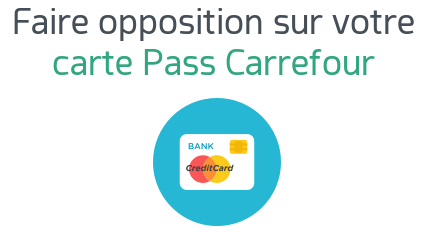 opposition carte pass carrefour banque