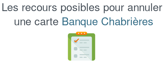 annuler carte banque chabriere