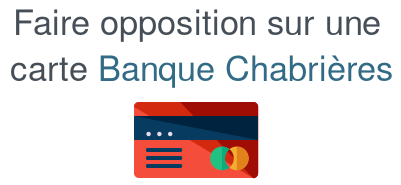 opposition carte banque chabriere