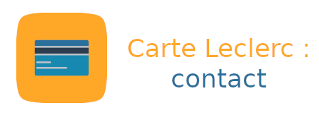 carte leclerc contact