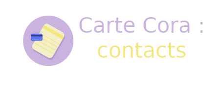 contacts carte cora