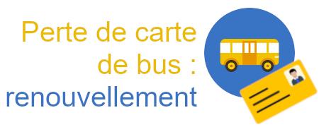 renouvellement carte bus