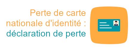 déclaration perte carte identité