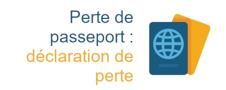 passeport déclaration perte